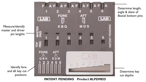 Lab Pin Decoder For Medeco Bi Axial Pins